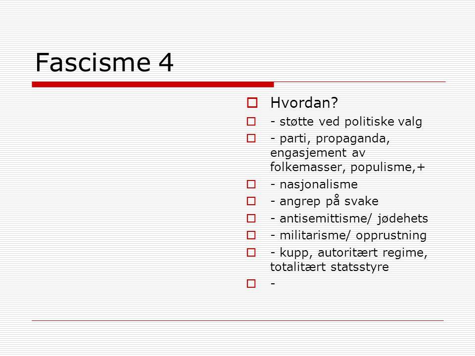 Fascisme 4  Hvordan.