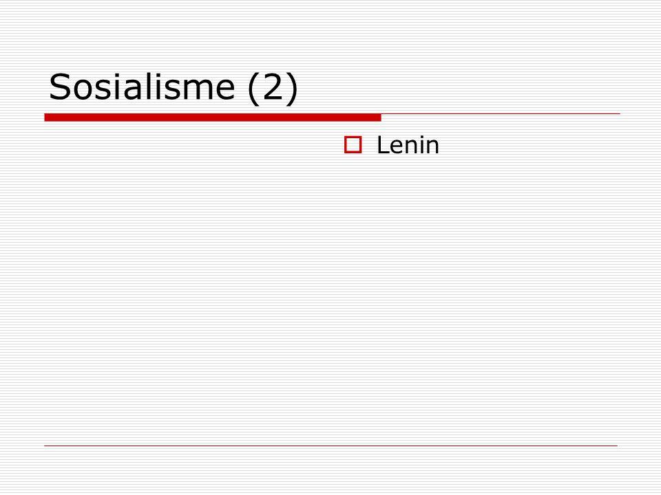 Sosialisme (2)  Lenin