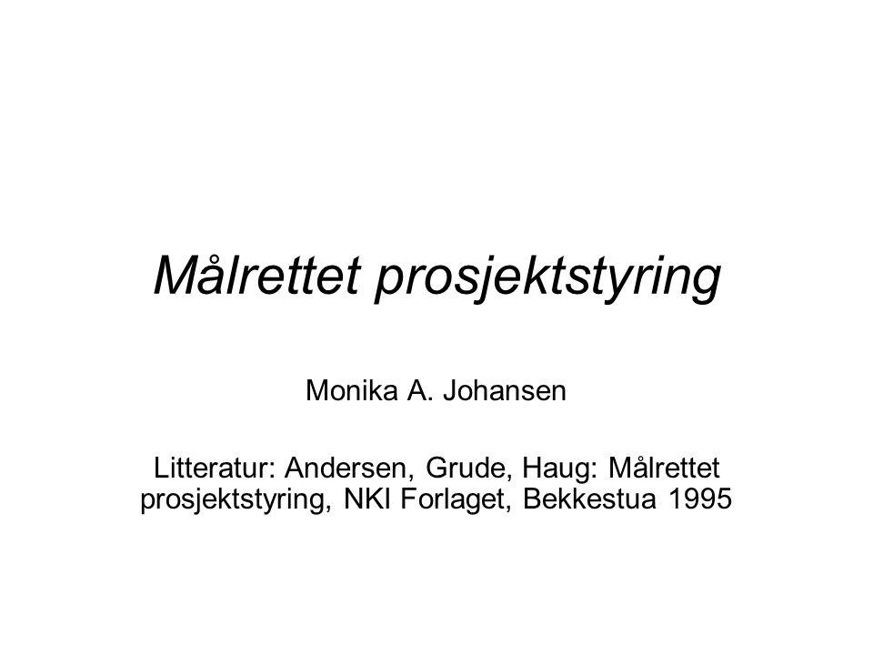 Målrettet prosjektstyring Monika A.