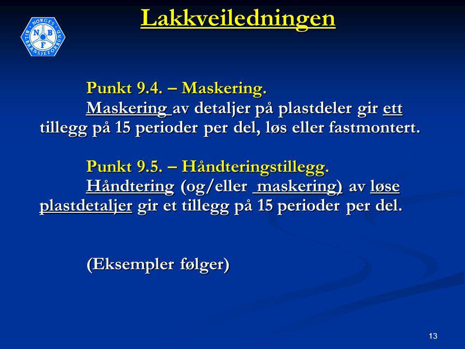 13Lakkveiledningen Punkt 9.4. – Maskering.