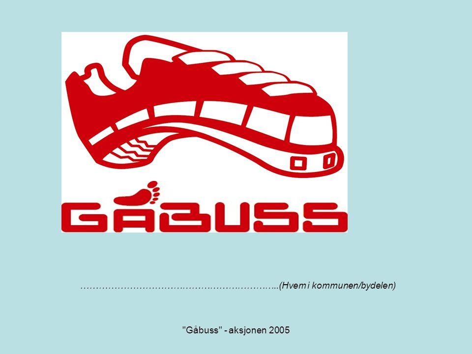 Gåbuss - aksjonen 2005 Vanlige argumenter for å kjøre barnet til skolen er: •Barnet må bli eldre, mer moden...
