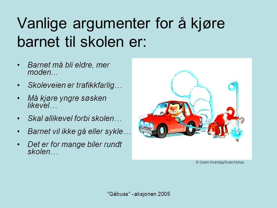 Gåbuss - aksjonen 2005 Eller så kan man tenke slik….