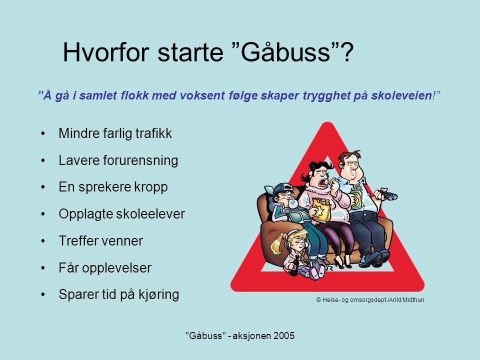 Gåbuss - aksjonen 2005 En aktiv hverdag.Gir overskudd og trivsel.