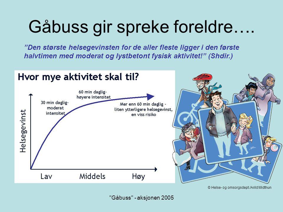Gåbuss - aksjonen 2005 Hvordan starte opp.•Be skolen om adresselister.