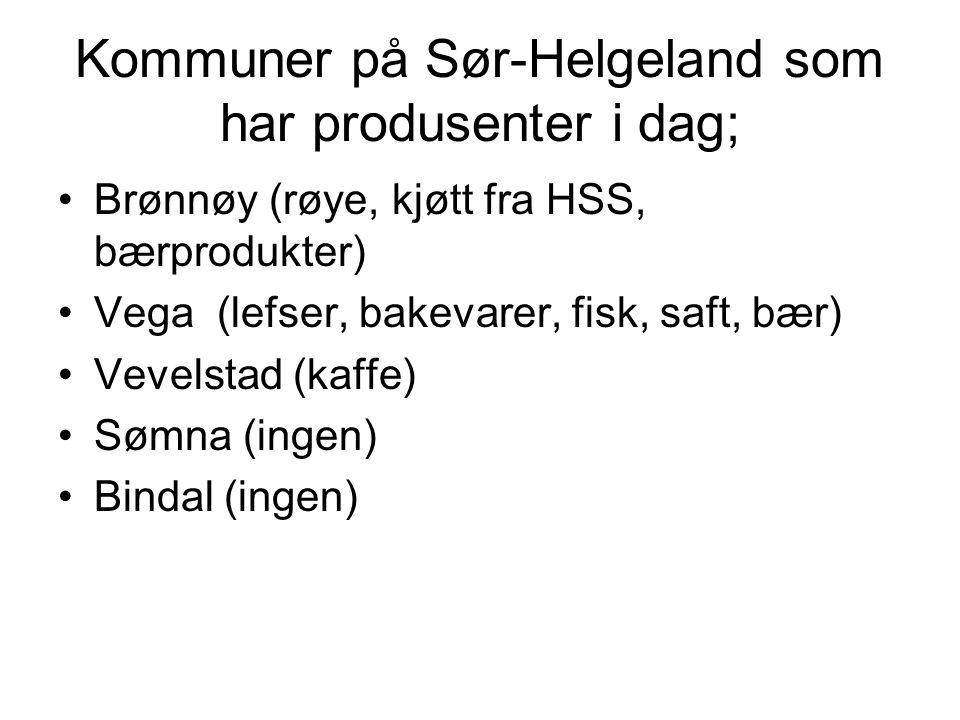 Vareutvalg Helgeland for øvrig; •Oster, yoghurt •Kamkake bl.a •Villsvin •Hjort •Elgprodukter,- bl.a servelat •Honning •