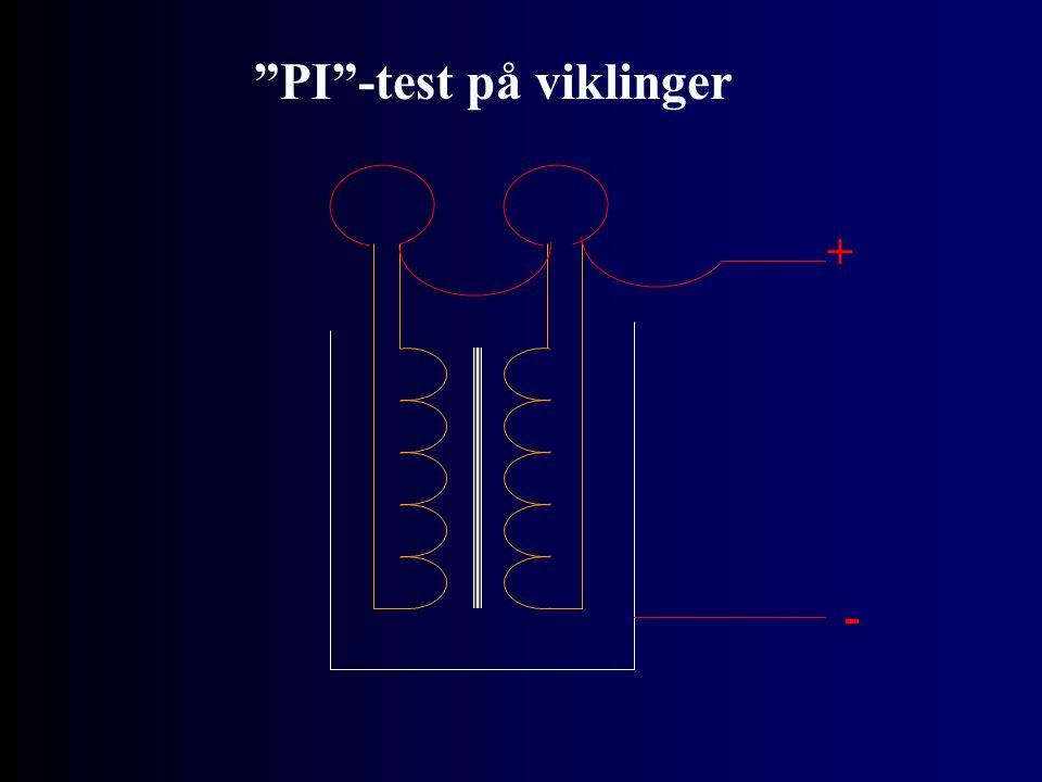 """PI""-test på viklinger + -"