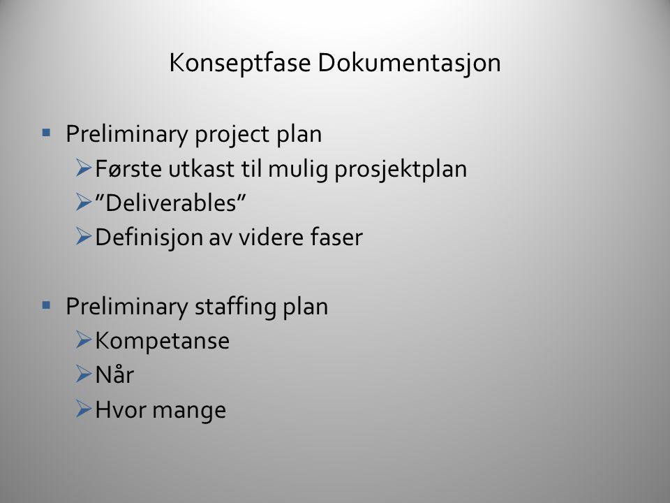 Dokumentasjon  Designfase  Detaljering og spesifikasjon av alle elementer  Svært nøyaktig beskrivelse av alt  Er det ikke dokumentert – er det ikke i spillet  100% innsats gir 80% dokumentasjon