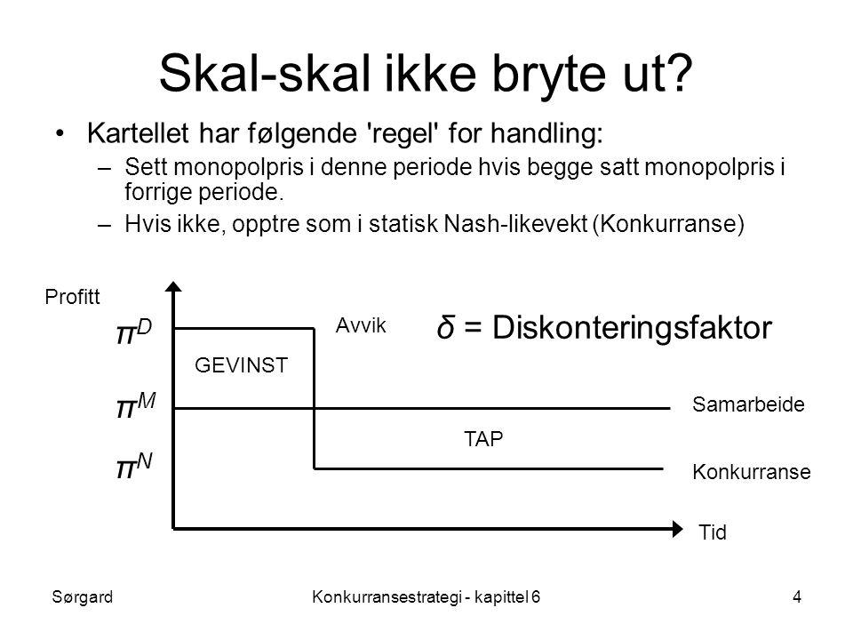 SørgardKonkurransestrategi - kapittel 64 Skal-skal ikke bryte ut.