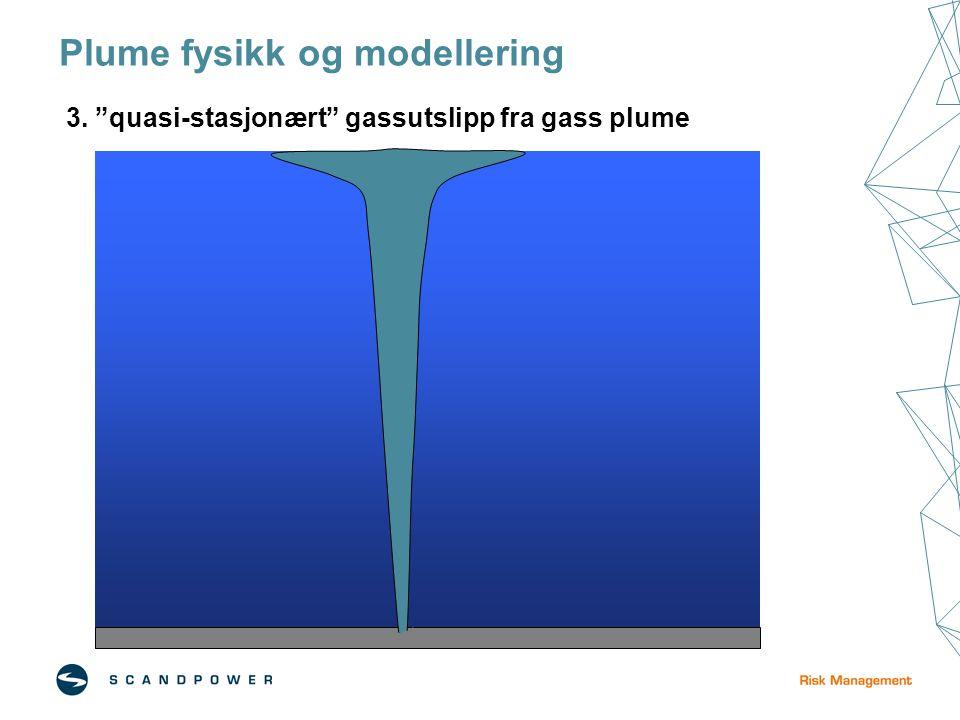 Plume fysikk og modellering 3. quasi-stasjonært gassutslipp fra gass plume