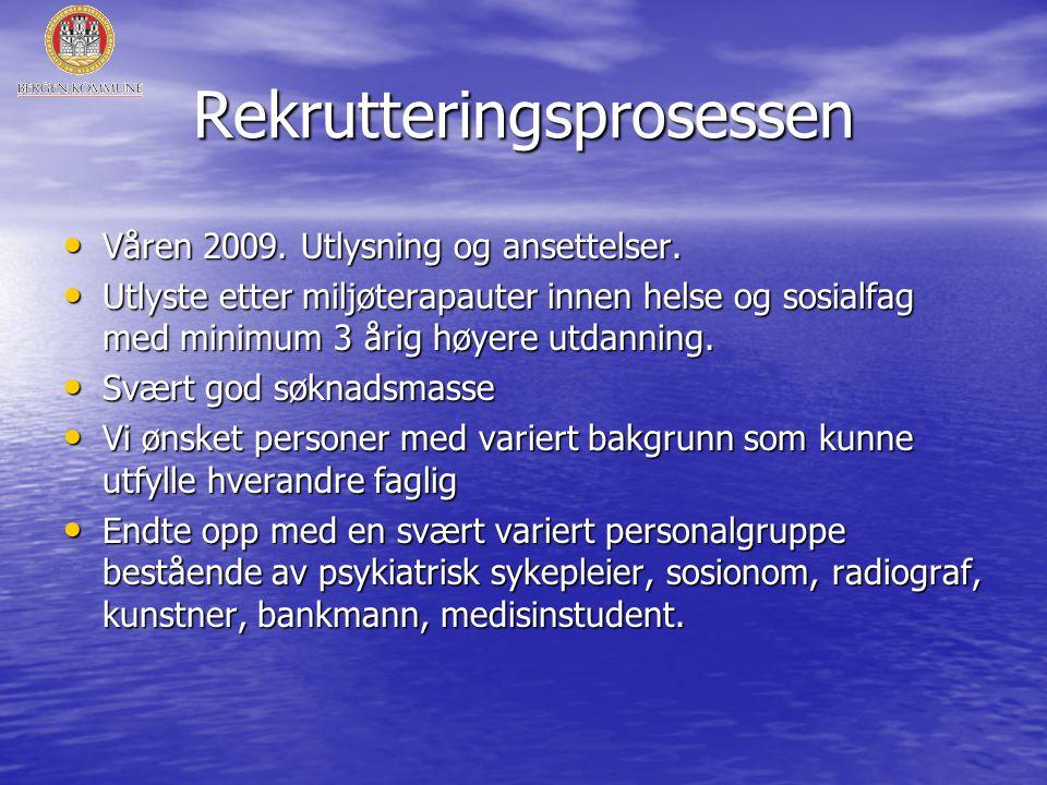 Rekrutteringsprosessen • Våren 2009.Utlysning og ansettelser.