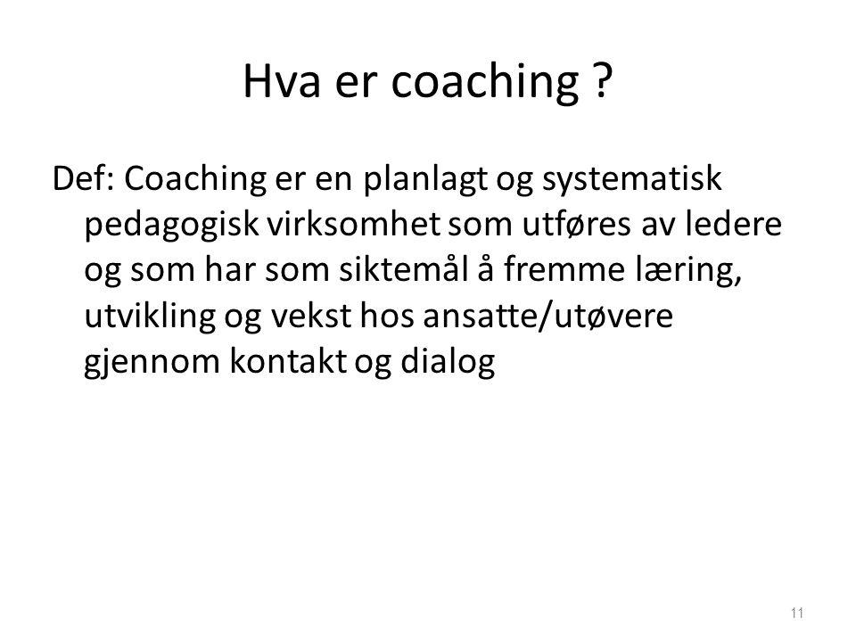 Hva er coaching .