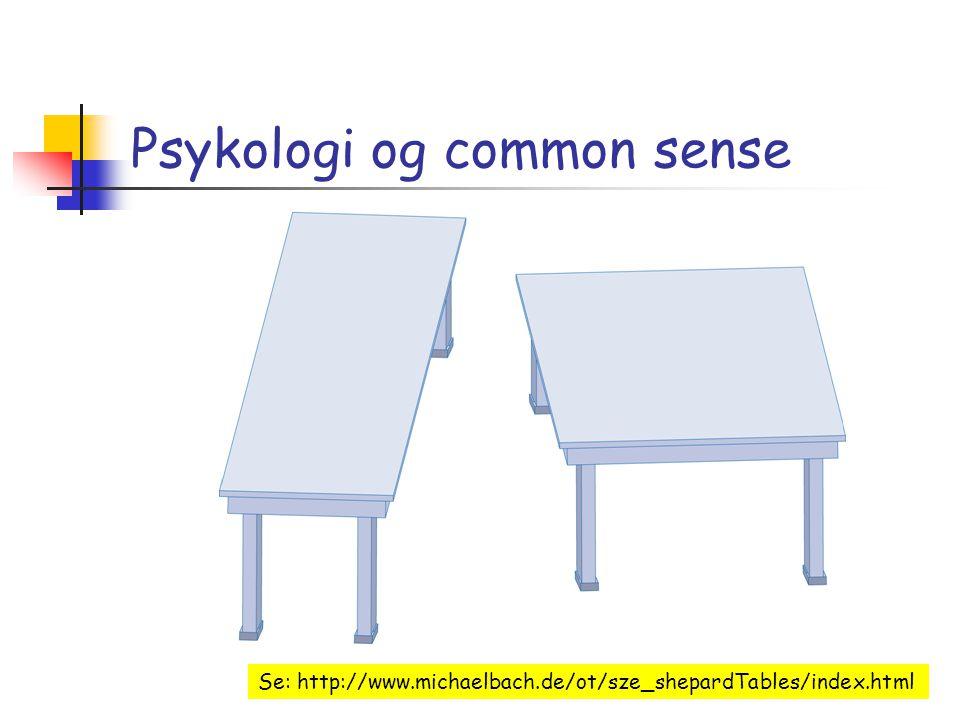 Psykologi og common sense Se: http://www.michaelbach.de/ot/sze_shepardTables/index.html