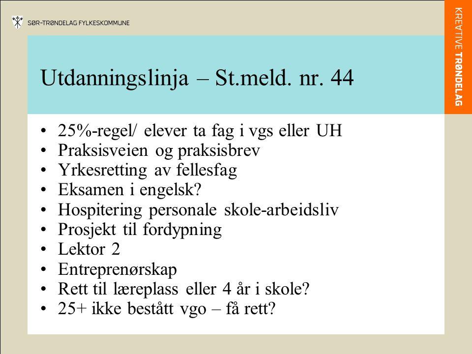 Utdanningslinja – St.meld. nr.
