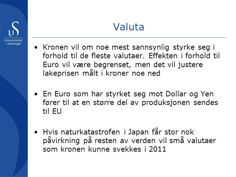 •Kronen vil om noe mest sannsynlig styrke seg i forhold til de fleste valutaer.