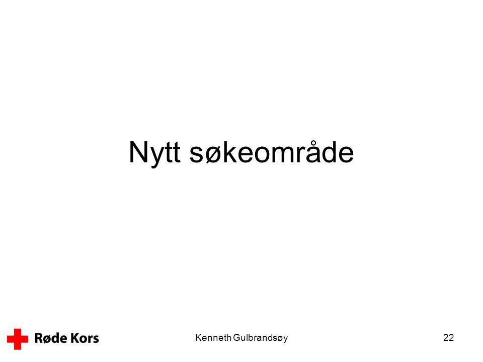 Kenneth Gulbrandsøy22 Nytt søkeområde