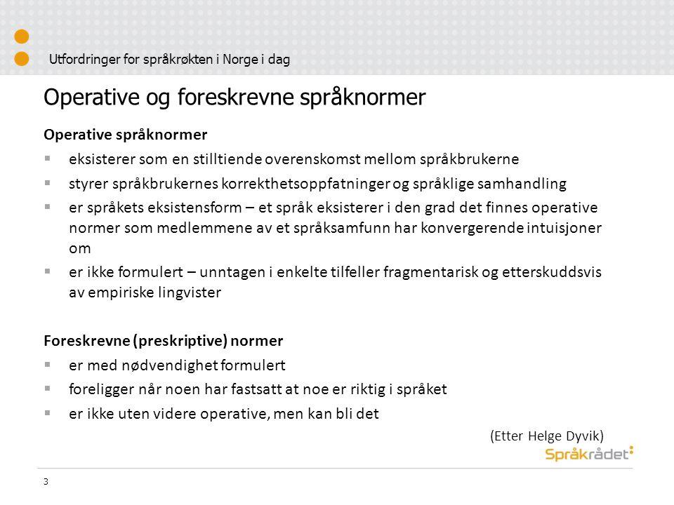 Utfordringer for språkrøkten i Norge i dag Svar på forespørsler per e-post til Språkrådets svartjeneste i 2006, fordelt på ulike typer emner 4 Skrivemåte og bøyning11,6 % Skriveregler21,9 % Uttale1,6 % Betydning, ordhistorie11,1 % Ordlegging, ordvalg30,0 % Avløserord, terminologi, egennavn11,1 % Andre spørsmål12,8 % I alt100 %