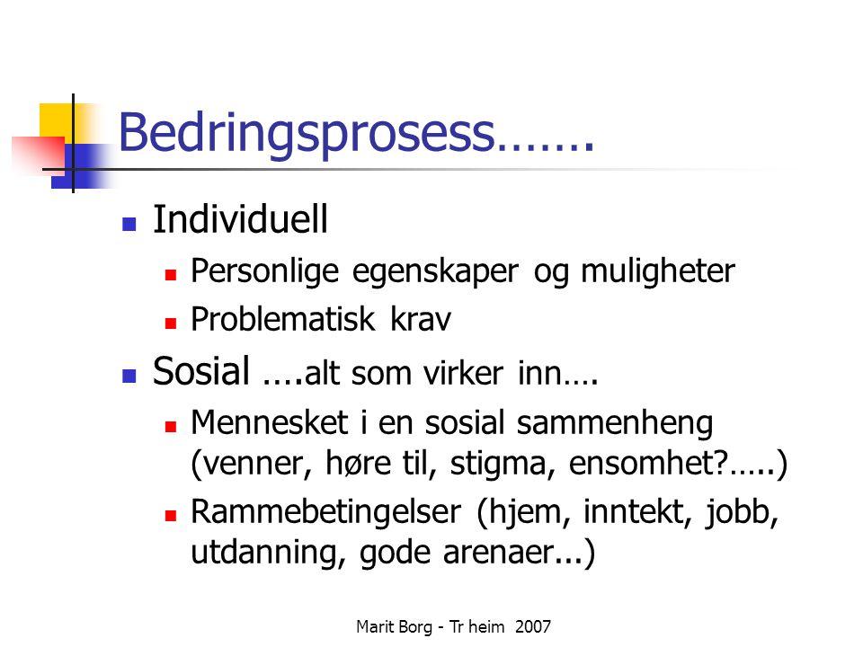 Marit Borg - Tr heim 2007 Bedringsprosess…….