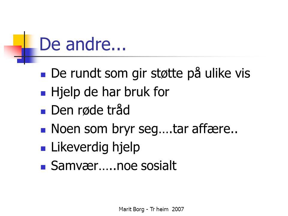 Marit Borg - Tr heim 2007 De andre...