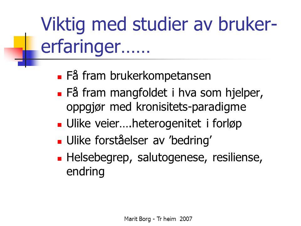 Marit Borg - Tr heim 2007 Hva er bedring.