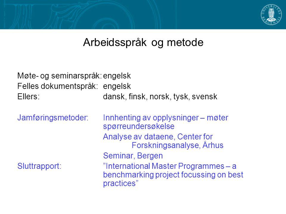 Definisjoner Hva er et internasjonalt masterprogram.