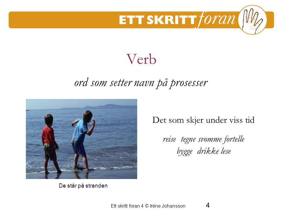 Ett skritt foran 4 © Iréne Johansson 5 Verb kan dannes på ulike måter Sport-e Kjøl-ne Spion-ere Be-seire Tulle-ringe Øs-regne En period av frustration för de vuxna hvordan skal man bruke tegn.