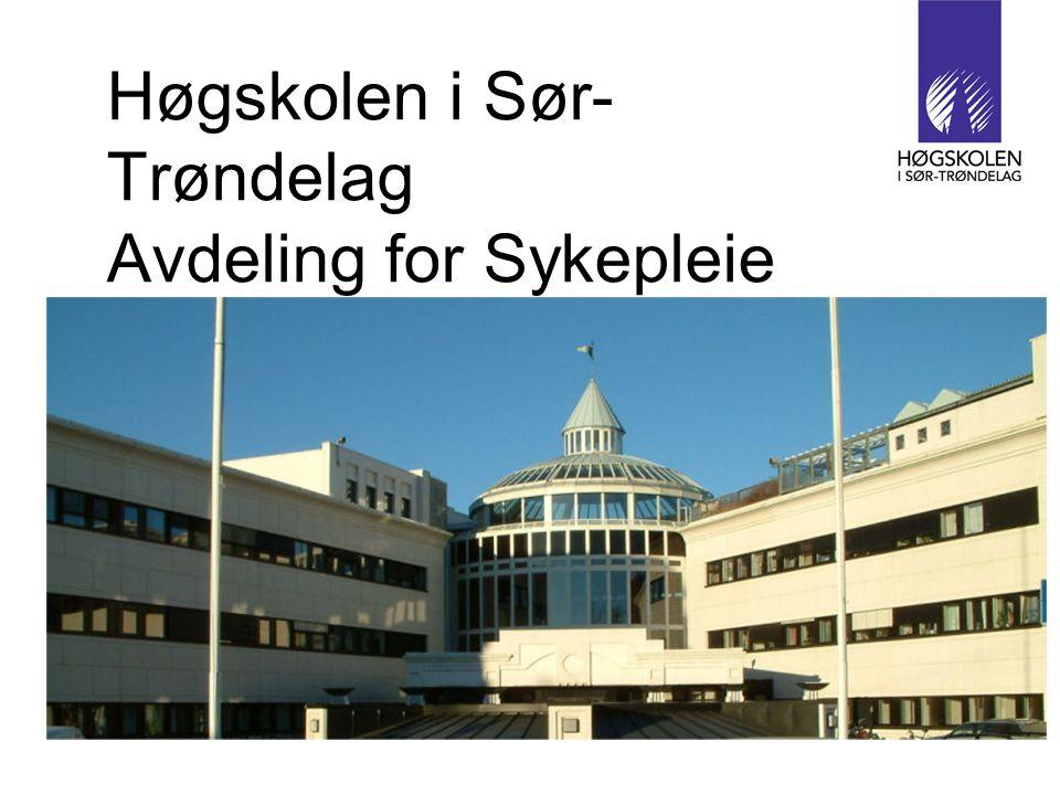 Høgskolen i Sør- Trøndelag Avdeling for Sykepleie