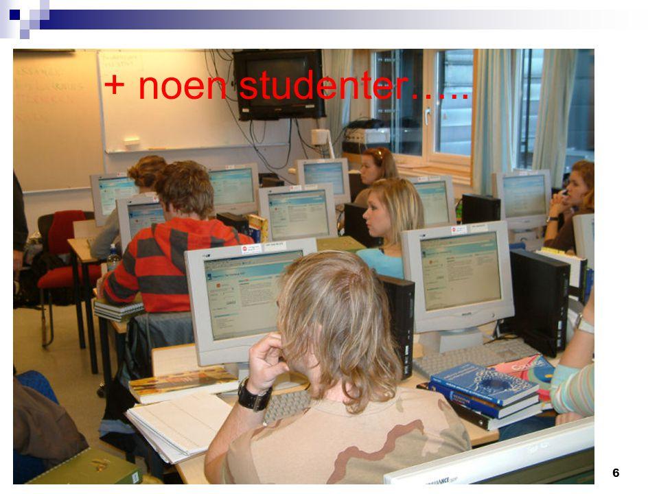 Lene Blekken, Trond Indergaard og Marit Olsen6 NVU konferanse, Bergen, 13.03.2007 + noen studenter…..