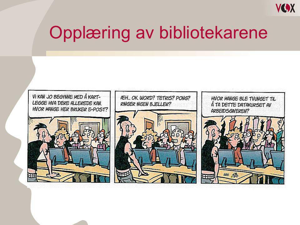 Opplæring av bibliotekarene