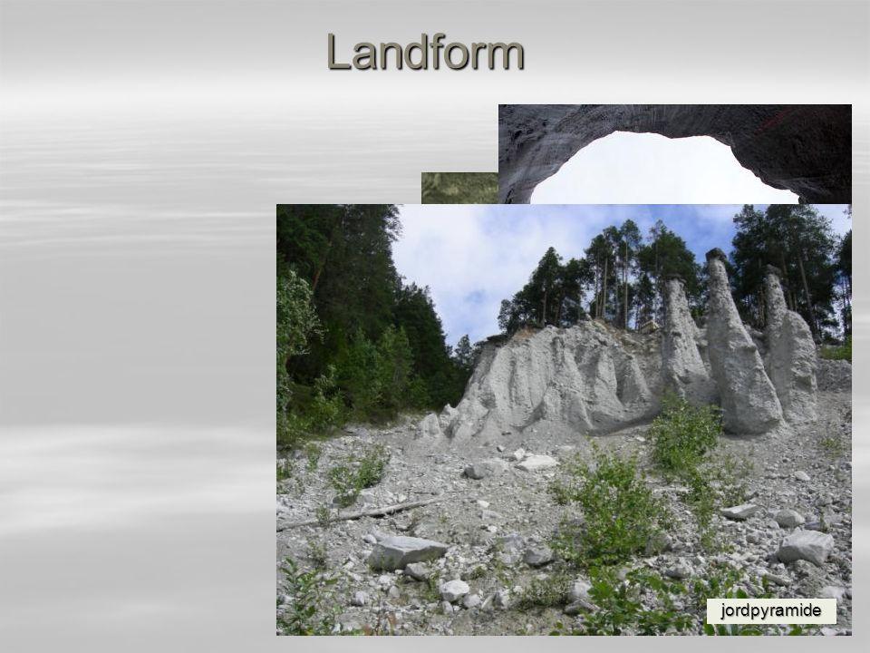 Landform konsentrisk høymyr kalktuff jettegrytepingo jordpyramide