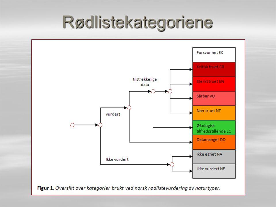 Rødlistekategoriene