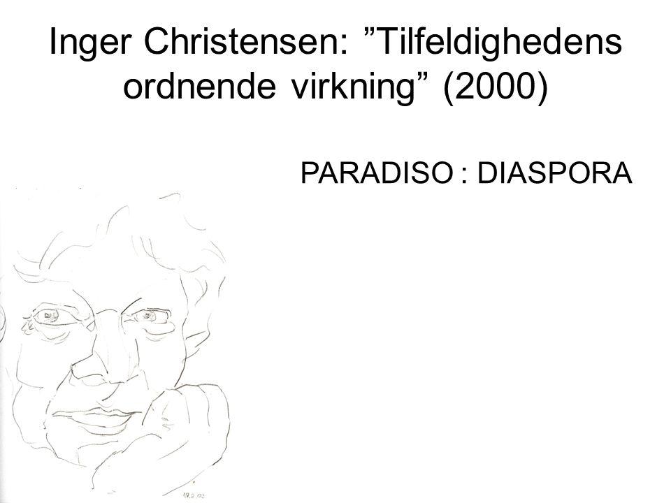 Inger Christensen: Tilfeldighedens ordnende virkning (2000) PARADISO : DIASPORA