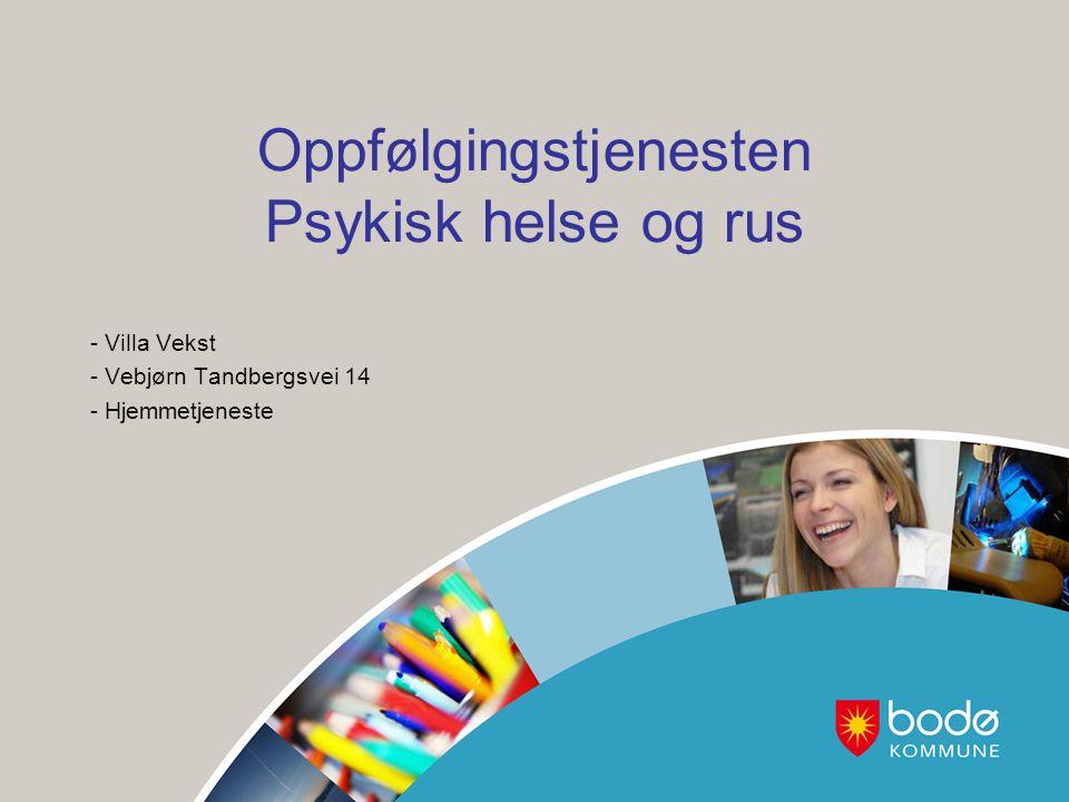 Oppfølgingstjenesten Psykisk helse og rus - Villa Vekst - Vebjørn Tandbergsvei 14 - Hjemmetjeneste