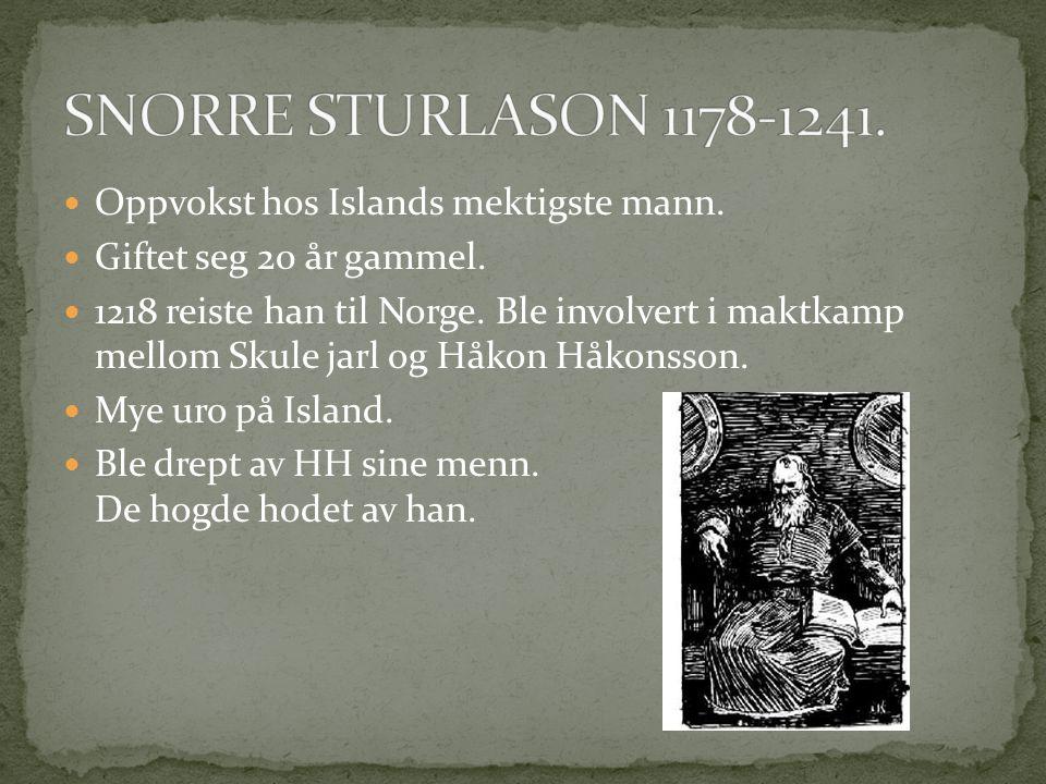  Oppvokst hos Islands mektigste mann. Giftet seg 20 år gammel.