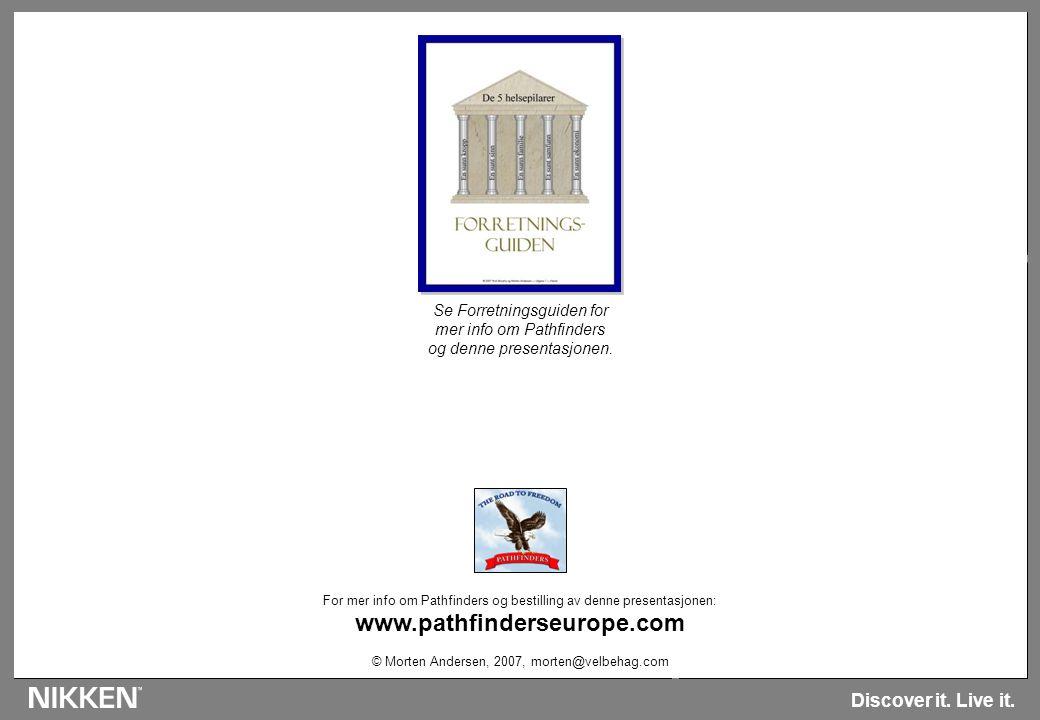 Egne notater: Side 22 - Anbefalt tid min Discover it. Live it. For mer info om Pathfinders og bestilling av denne presentasjonen: www.pathfinderseurop