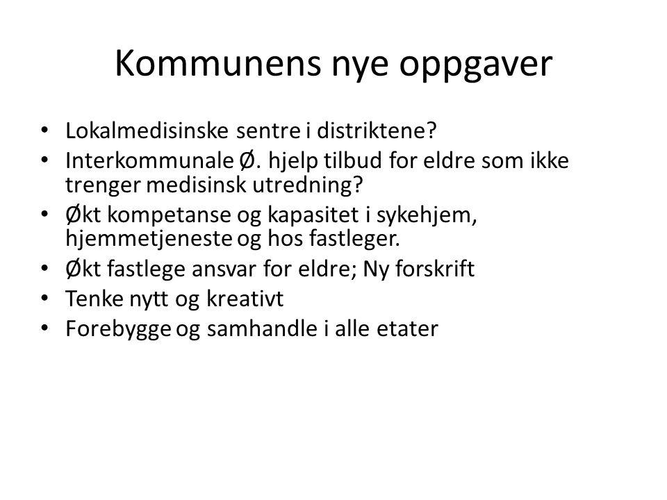 Kommunal organisering • Utøvende og behandlende ledd • Administrasjon; Rådmann, kom.sjef, avd.