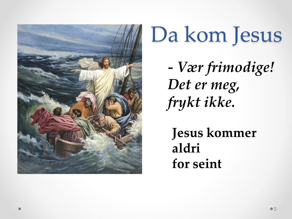 Jesus er selv lyset 6 Jeg er verdens lys.
