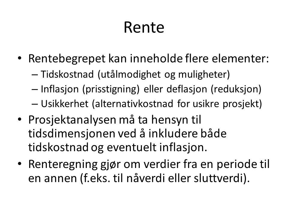 Forskuddsannuiteter Merk: Læreboken beregner sluttverdien på tidspunkt T-1, dvs.