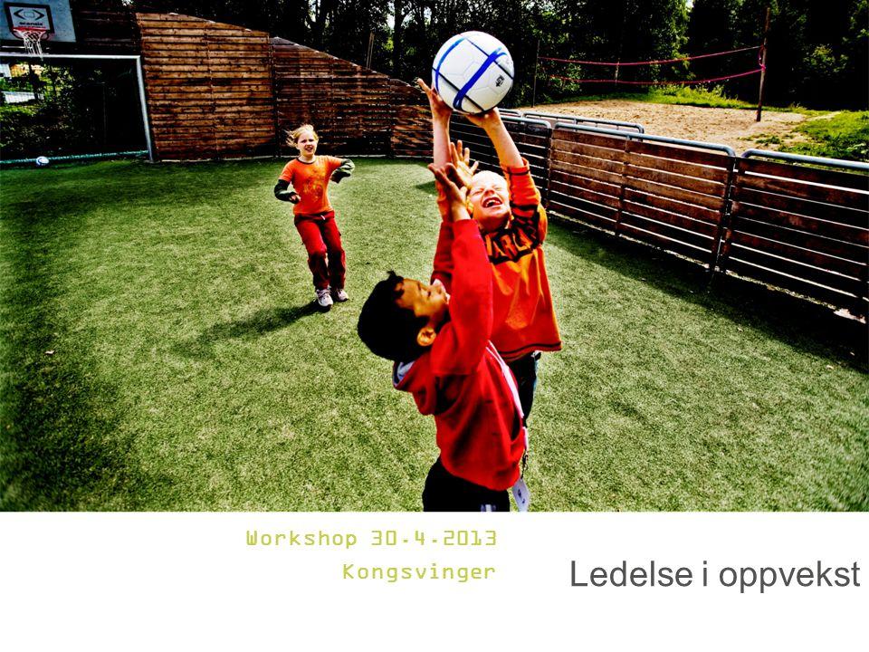 Ledelse i oppvekst Workshop 30.4.2013 Kongsvinger