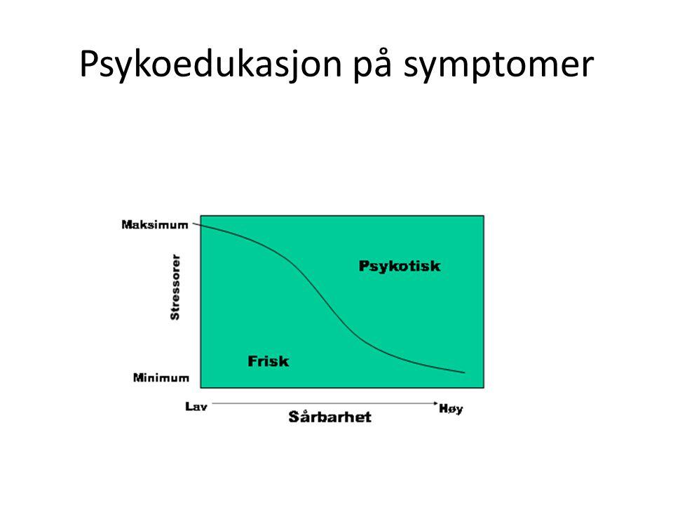 Psykoedukasjon på symptomer Hva er en psykose? Hva hjelper?