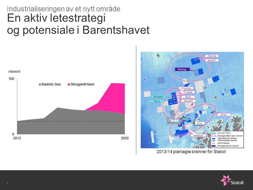 En aktiv letestrategi og potensiale i Barentshavet Industrialiseringen av et nytt område 8