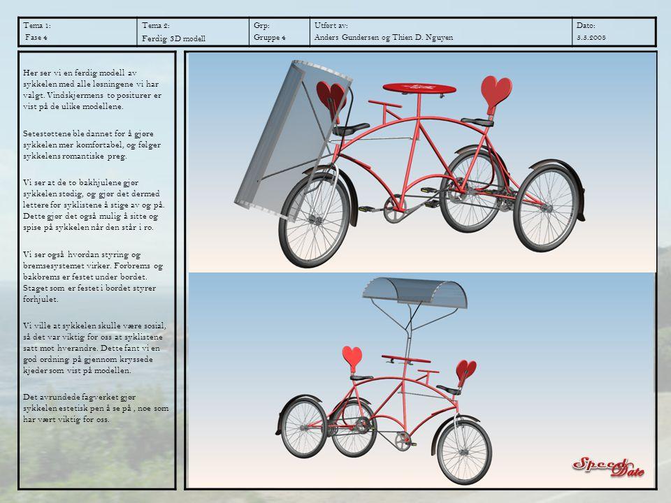 Tema 1: Fase 4 Tema 2: Ferdig 3 D modell Grp: Gruppe 4 Utført av: Anders Gundersen og Thien D. Nguyen Dato: 5.5.2008 Her ser vi en ferdig modell av sy