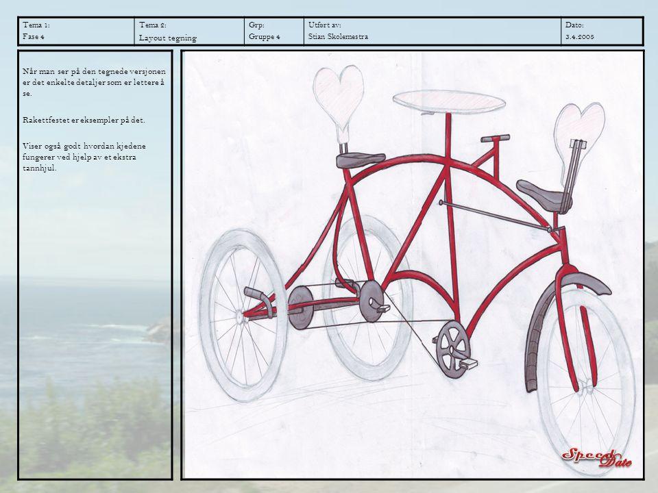 Tema 1: Fase 4 Tema 2: Layout tegning Grp: Gruppe 4 Utført av: Stian Skolemestra Dato: 3.4.2008 Når man ser på den tegnede versjonen er det enkelte de