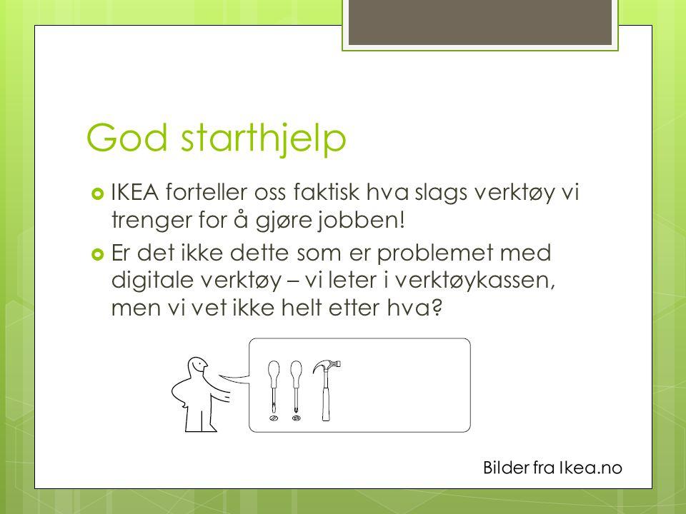 God starthjelp  IKEA forteller oss faktisk hva slags verktøy vi trenger for å gjøre jobben.