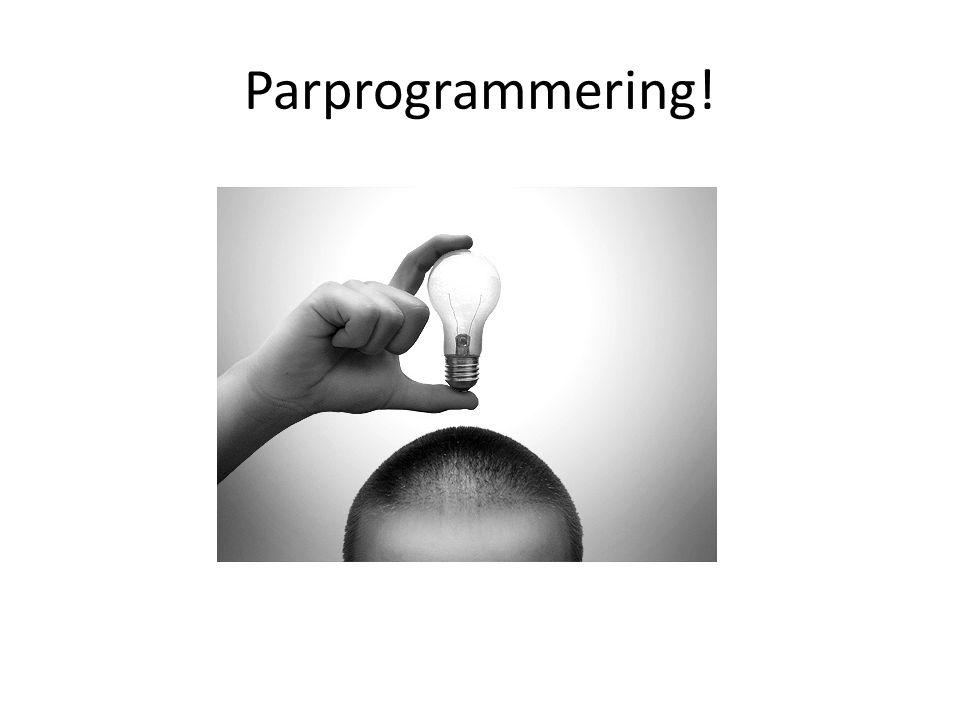 Parprogrammering!