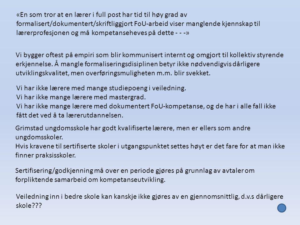 Fordypning i fag – Fordypning om fag - Profesjonsfag Hva har «jeg» mest bruk for på ungdomstrinnet.