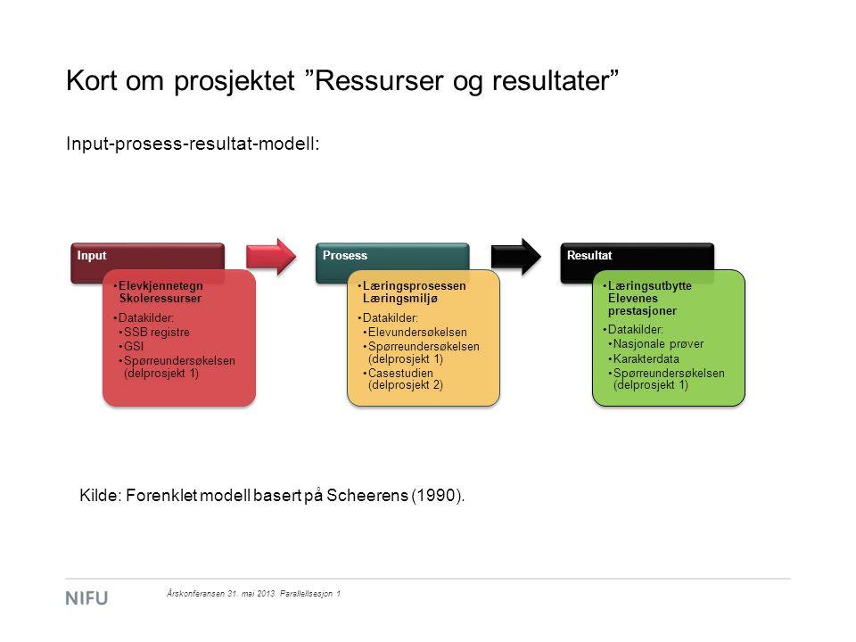 Årskonferansen 31.mai 2013. Parallellsesjon 1 Flernivåanalyser av 5.