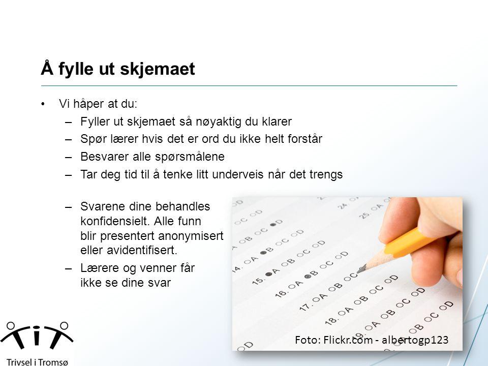 Lenke for elevene •Barneskolens spørreskjema (4.-7.