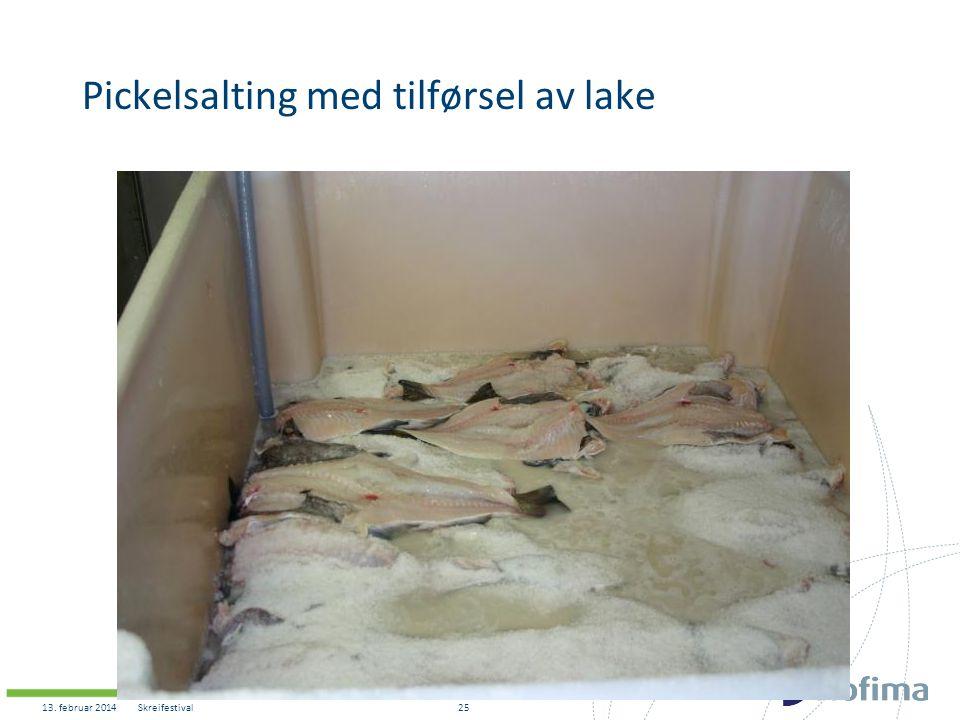 Pickelsalting med tilførsel av lake 13. februar 2014Skreifestival25