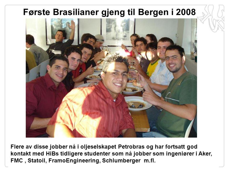 Flere av disse jobber nå i oljeselskapet Petrobras og har fortsatt god kontakt med HiBs tidligere studenter som nå jobber som ingeniører i Aker, FMC,