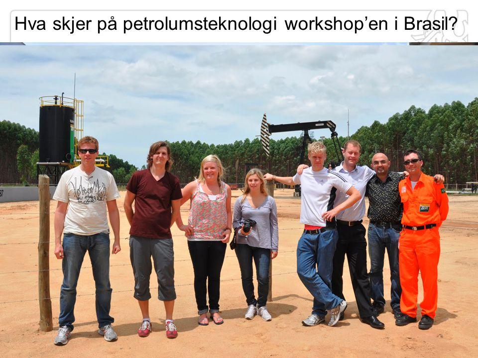 Hva skjer på petrolumsteknologi workshop'en i Brasil?